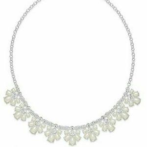 🆕Silver-Toned Imitation Pearl Blossom Neckla